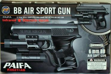 "5.5"" Airsoft Handgun W/ Laser and Tactical Light"