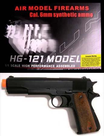 Black HFC HG-121 GAS Airsoft Gun
