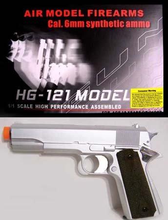 Silver HFC HG-121 GAS Airsoft Gun
