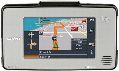Sanyo Easy Street NVM4030 GPS Navigation System with Bluetooth and MP3 Capabilities
