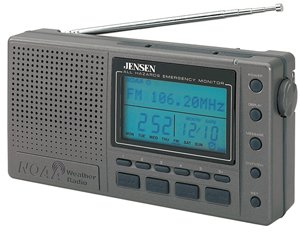 Jensen SRWS1000 AM/FM Weather Radio with Marine Forecast