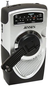 Jensen MR550 Portable Self-Powered AM/FM Weather Radio