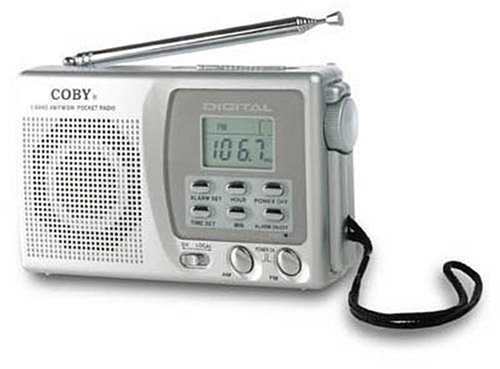 Coby Am/Fm Short Wave Digital Radio with Alarm Clock