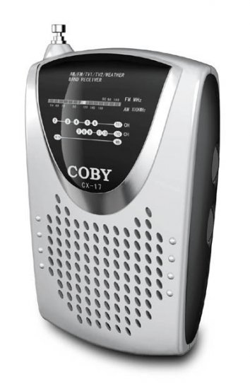 Coby Am/Fm/Tv Weather Band Radio with Built In Speaker