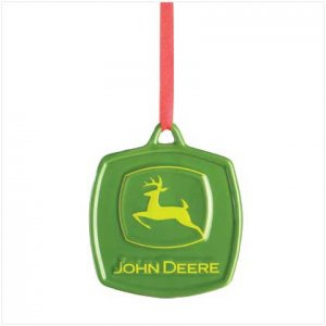 John Deere Logo Ceramic Ornament