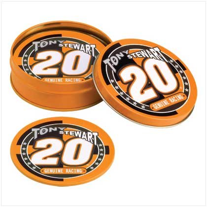 Tony Stewart Tin Coaster Set