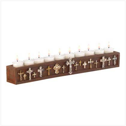 Crucifix Tealight Holder