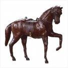 LEATHER HORSE W/SADDLE/HARNESS