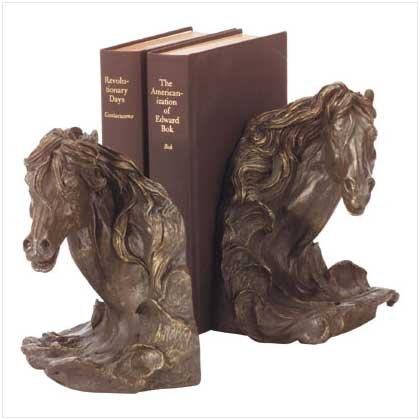 HORSE'S HEAD BOOK ENDS