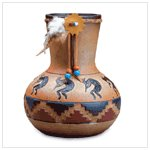 Kokopelli Design Vase