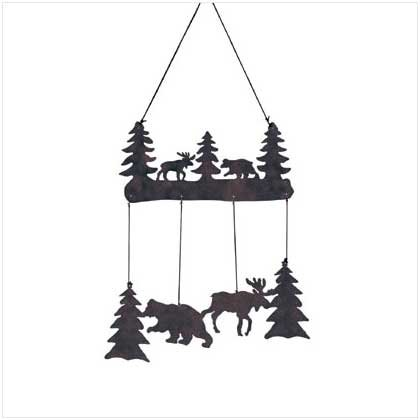 WOOD MOOSE & BEAR WINDCHIMES