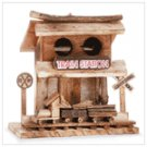 TRAIN STATION WOOD BIRDHOUSE