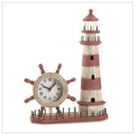 Wood Lighthouse Clock