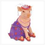 Fashion Pig Figurine-Polyresin