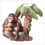 Monkey Lovers Candleholder