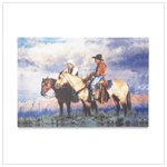 Cowboys Canvas Art Print