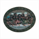 ALAB. LAST SUPPER OVAL PLAQUE