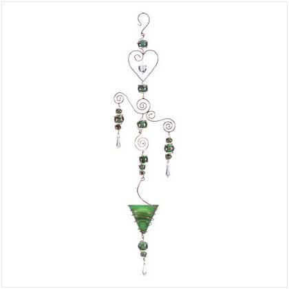 Green Art Glass Balls Candleholder