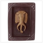 Framed Elephant Mask Plaque - Alab