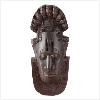 EBONY MASK WALL PLAQUE