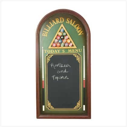 Billiards Menu Board