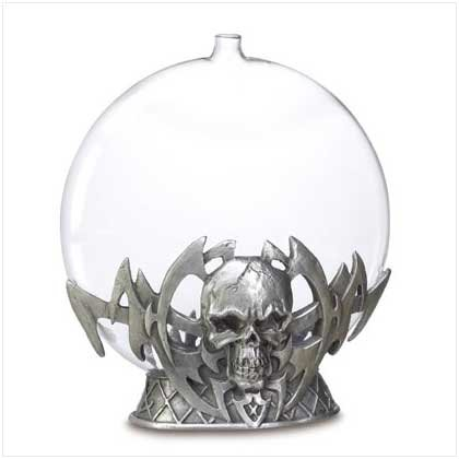 Pewter Skull Oil Burner