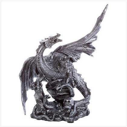 ALAB PEWTER FINISH DRAGON