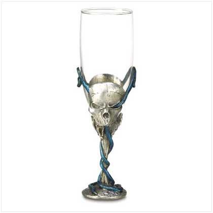 Pewter Skull Goblet