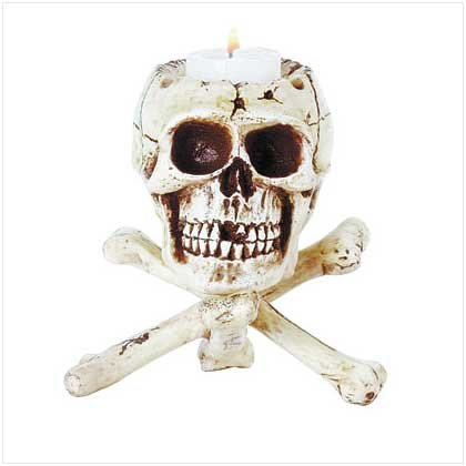 SKULL ON BONE TRIPOD