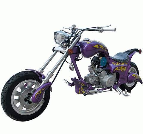 110cc - 4 Stroke Custom Chopper - Up to 54 MPH