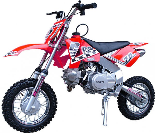 70cc - 4 Stroke Dirt Bike - Up to 34 MPH F/S