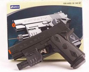 Case of 12 - Galaxy G-058 Pistols w/ Lasers