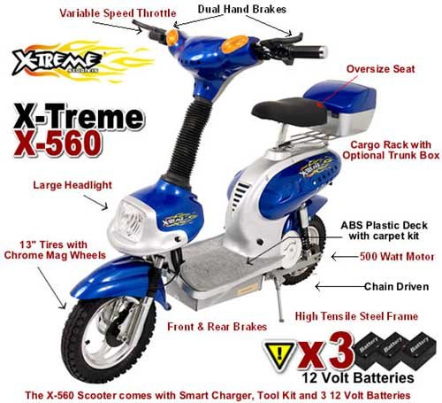 Electric X-560 DELUXE HIGH POWER PERSONAL TRANSPORTATION
