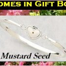 Mustard Seed Cuff Bracelet, Gift Box, Prayer Card