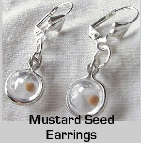 """Sterling Silver Mustard Seed """"Ball Charm"""" Earrings Comfort Eurowires"""