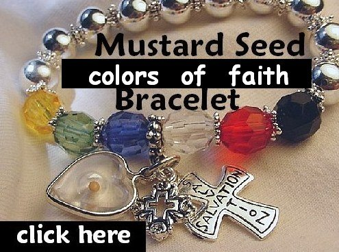 "Graduation Faith"" Mustard Seed Jewelry Favorite Cross Mustard Seed Bracelet & Gift Box"