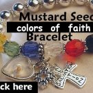 "Graduation Faith"" Mustard Seed Jewelry Favorite Cross Mustard Seed Bracelet & Gift Box"