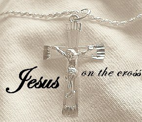 Man Christian Jewelry Diamond-Cut (medium size) Jesus Cross Rope Necklace