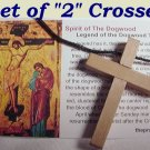 "My Jesus"" Wood Cross Necklaces ""Dogwood Christian Story"""