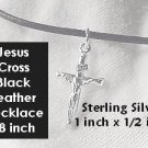 "His Christian Jewelry,Boys Necklace,Jesus on the Cross"",Necklace 18 inch"