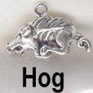 Razorback Hog Silver Charm