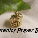 "Gold Serenity Prayer"" God Box Charm for necklace, bracelet, pocket charm"