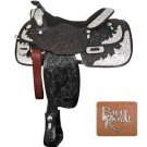 #19184-16 Billy Royal Sun Country Show Saddle - Dark Oil - 16&quot; Seat