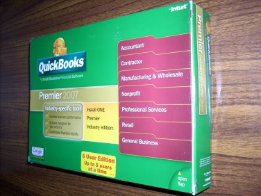 Quickbooks Premier 2007 (5-User)(Windows)