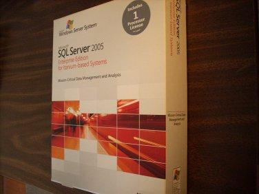 Microsoft SQL Server 2005 Enterprise 32 Bit (1 Processor License)(Windows)