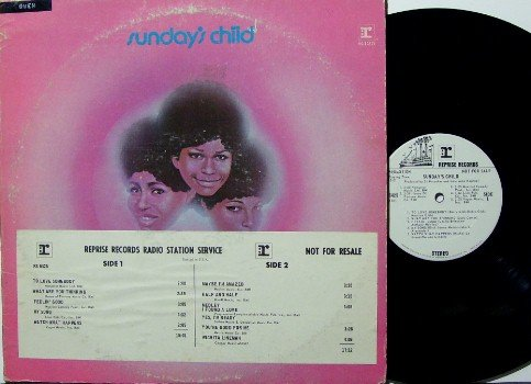 Sunday's Child -- Vinyl LP Record - White Label Promo - 70s Female Soul - DJ Timing Strip - Sundays