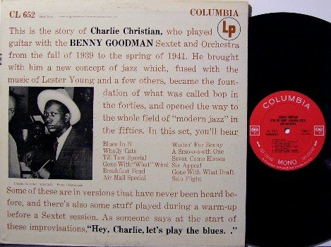 Christian, Charlie - Vinyl LP Record - Columbia 360 Label - Jazz - Mono - Promo Stamp On Cover