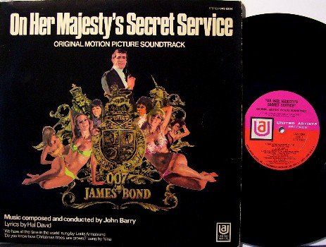 On Her Majesty's Secret Service - Soundtrack - Vinyl LP Record - James Bond 007 - John Barry - OST