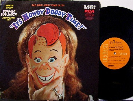 It's Howdy Doody Time - Vinyl LP Record - Buffalo Bob Smith - Children Kids