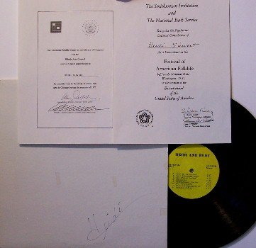 Siewert, Heidi - Heidi & Rudy - Vinyl LP Record - Autographed Cover + Inserts - Private Label - Folk